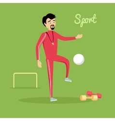Sport Concept in Flat Design vector