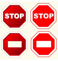 Stop sign set vector