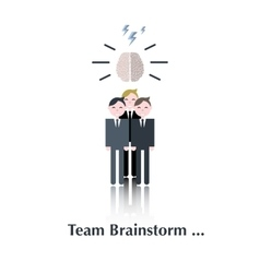 Team Brainstorm group vector image