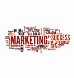 Word cloud business concept marketing vector