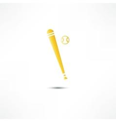 Baseball And Bat Icon vector image