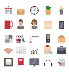 business and office icon business and office icon vector image