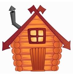 cartoon wooden little shack vector image vector image