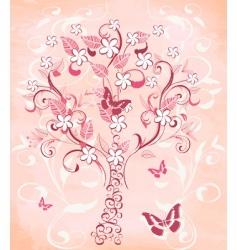cherry tree vector image