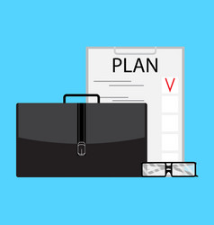 Writing business plan vector