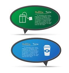 3D bubble talk blackboard vector image