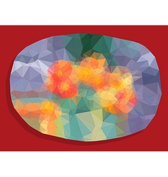 Abstract vivid color polygonal background vector image