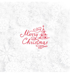 christmas holiday background with christmas tree vector image vector image