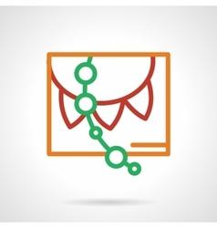 Color simple line paper garland icon vector image vector image