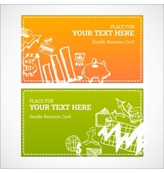 Doodle business cards set vector image