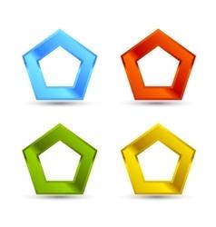 Pentagone shapes set vector image