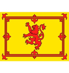 Scottish lion flag vector