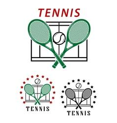 Big tennis emblems or badges vector image vector image