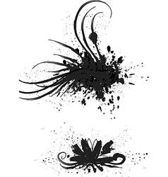Black grunge icon set vector