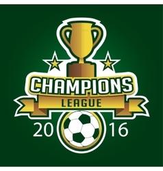 Champion soccer league logo emblem badge graphic vector image vector image