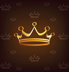 crown stylized symbol vector image vector image