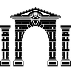 fantasy arch and columns vector image vector image