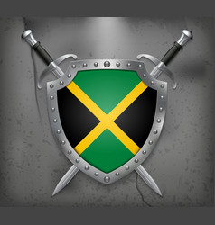 Flag of Jamaica Medieval Background vector image vector image