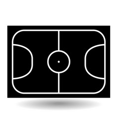 icon playground soccer vector image vector image