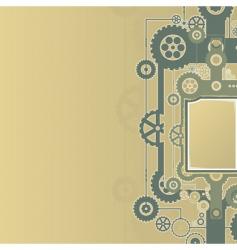 mechanical cogworks design vector image