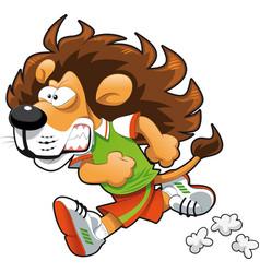 Runner Lion vector image