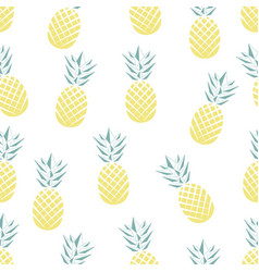 seamless pineapple pattern in vector image vector image