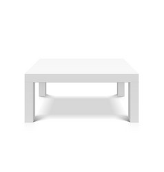 white empty square table vector image vector image