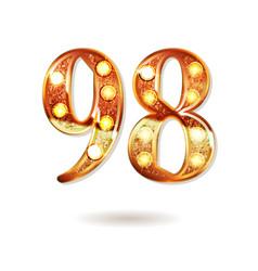 98 years anniversary celebration design vector