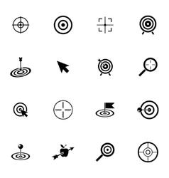 black target icons set vector image