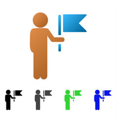 child commander flat gradient icon vector image vector image