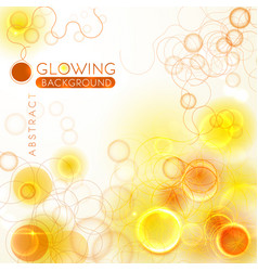 glowing orange abstract background vector image