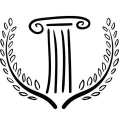 greek art vector image vector image