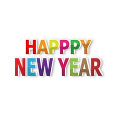 Happy new year text background vector image vector image