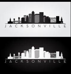 jacksonville usa skyline and landmarks silhouette vector image