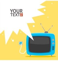 retro television card Flat Design vector image