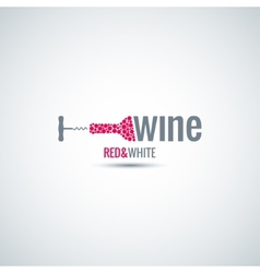 wine cellar bottle background vector image vector image