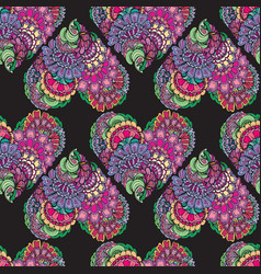 abstract decorative seamless pattern with hand vector image