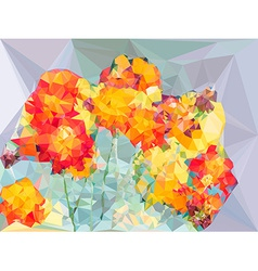 Abstract vivid color polygonal background from vector