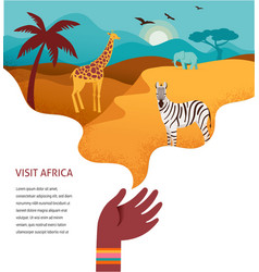 Africa banner of safari vector