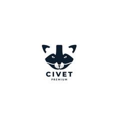 Animal head civet asian design vector