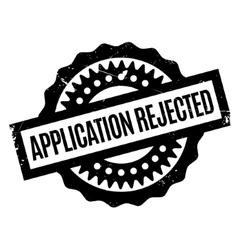 Application Rejected rubber stamp vector