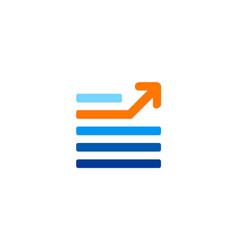 arrow line abstract stripe business logo vector image