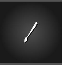 art paint brush icon flat vector image