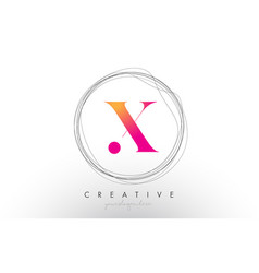 Artistic x letter logo design with creative vector