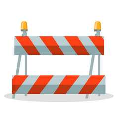 barrier at road stop motion construction with vector image