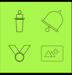 basic content simple linear outline icon set vector image