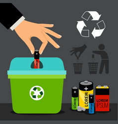 Battery recycling vector