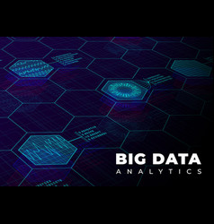 big data analytics perspective background design vector image
