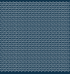 Blue seamless background with ethnic pattern vector