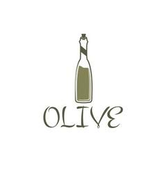 bottle of olive oil design template vector image
